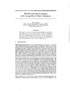 Reinforcement Learning Memory