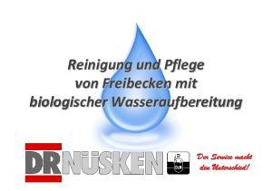 Reinigung und Pflege von Freibecken mit biologischer Wasseraufbereitung. Der Service macht den Unterschied!