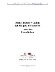 Reino, Pactos y Canon del Antiguo Testamento