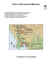 Reise in das Traumland Myanmar