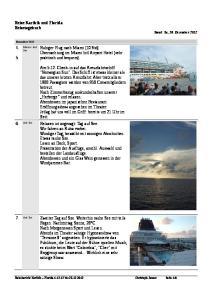 Reise Karibik und Florida Reisetagebuch Stand: So, 30. Dezember 2012
