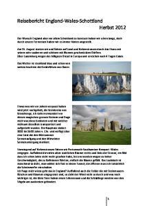Reisebericht England-Wales-Schottland Herbst 2012