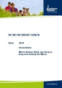 REISEINFORMATIONEN. Reise Deutschland. Werra-Burgen-Steig: von Burg zu Burg und entlang der Werra