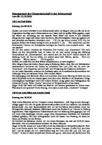 Reisetagebuch der Chorgemeinschaft in den Schwarzwald vom
