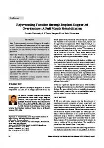 Rejuvenating Function through Implant Supported Overdenture: A Full Mouth Rehabilitation