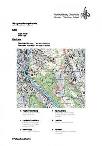 Rekognoszierungsbericht Chopfholzwald und Umgebung