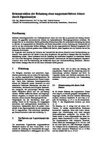 Rekonstruktion der Belastung eines magnetostriktiven Aktors durch Signalanalyse