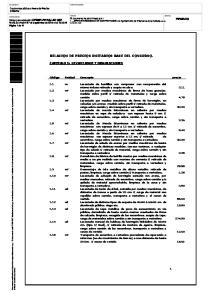 RELACION DE PRECIOS UNITARIOS BASE DEL CONCURSO