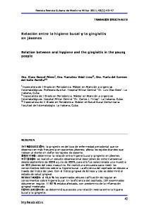 Relación entre la higiene bucal y la gingivitis en jóvenes