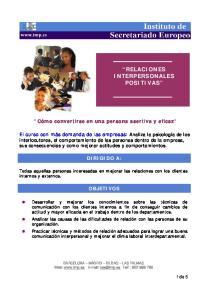 RELACIONES INTERPERSONALES POSITIVAS