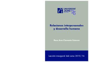 Relaciones interpersonales y desarrollo humano