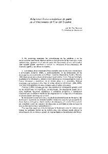 Relaciones léxico-semánticas de parte en el Diccionario de U so del Español