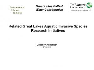 Related Great Lakes Aquatic Invasive Species Research Initiatives