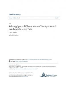 Relating Spectral Observations of the Agricultural Landscape to Crop Yield