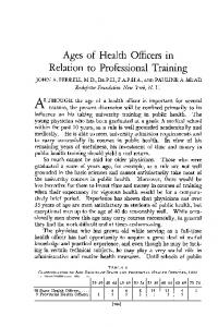 Relation to Professional Training