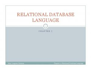 RELATIONAL DATABASE LANGUAGE