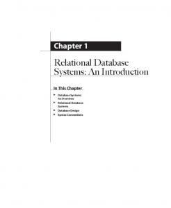 Relational Database Systems: An Introduction