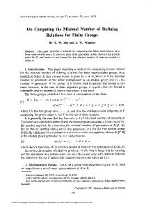 Relations for Finite Groups