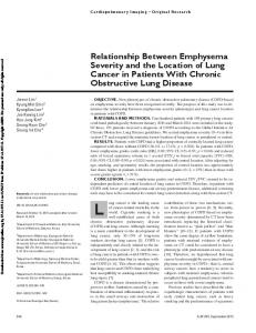 Relationship Between Emphysema Severity and the Location of Lung Cancer in Patients With Chronic Obstructive Lung Disease