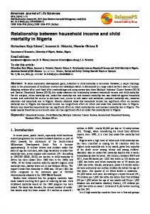 Relationship between household income and child mortality in Nigeria