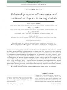 Relationship between self-compassion and emotional intelligence in nursing students