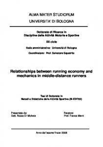 Relationships between running economy and mechanics in middle-distance runners