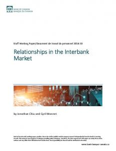 Relationships in the Interbank Market