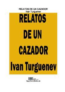RELATOS DE UN CAZADOR Ivan Turguenev