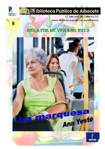 RELATOS DE VERANO 2013