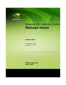 Release 186 Graphics Drivers Release Notes
