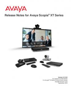 Release Notes for Avaya Scopia XT Series