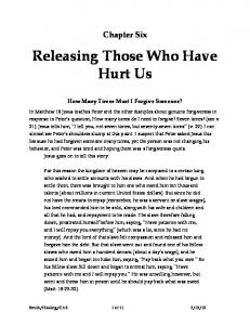 Releasing Those Who Have Hurt Us