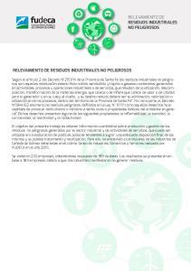 RELEVAMIENTO DE RESIDUOS INDUSTRIALES NO PELIGROSOS