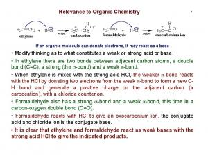 Relevance to Organic Chemistry