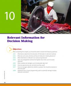 Relevant Information for Decision Making