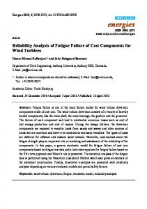 Reliability Analysis of Fatigue Failure of Cast Components for Wind Turbines