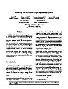 Reliability Mechanisms for Very Large Storage Systems