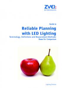 Reliable Planning with LED Lighting