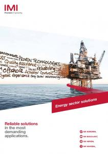 Reliable solutions in the most demanding applications. Energy sector solutions