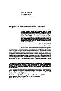 Religion and Female Educational Attainment