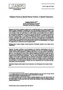 Religious Events as Special Interest Tourism. A Spanish Experience