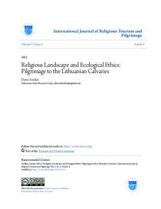 Religious Landscape and Ecological Ethics: Pilgrimage to the Lithuanian Calvaries