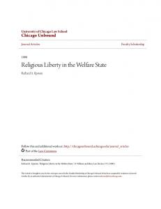 Religious Liberty in the Welfare State