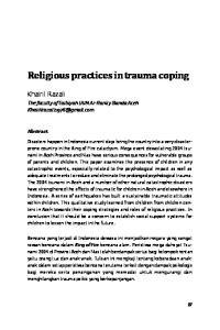 Religious practices in trauma coping