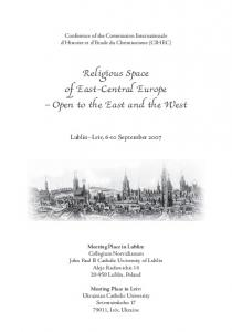 Religious Space of East-Central Europe Open to the East and the West