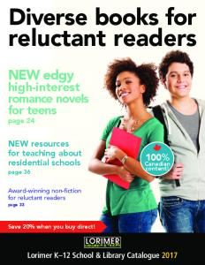 reluctant readers NEW edgy high-interest romance novels for teens page % NEW resources for teaching about residential schools