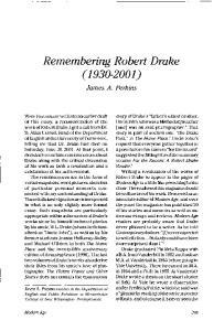 Remembering Robert Drake