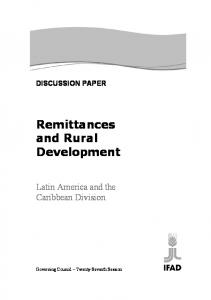 Remittances and Rural Development
