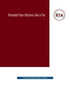 Remodel Your Kitchen Like a Pro
