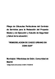 REMODELACION DE CASCO URBANO EN ZONA SUR